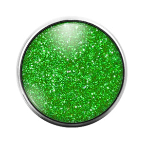 Glitter Pattern - 18MM Glass Dome Candy Snap Charm GD1499