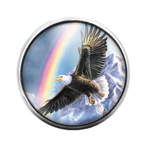 Eagle - 18MM Glass Dome Candy Snap Charm GD0686