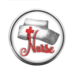 Nurse - 18MM Glass Dome Candy Snap Charm GD0575
