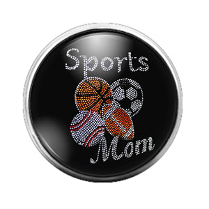 Sports Mom - 18MM Glass Dome Candy Snap Charm GD0595
