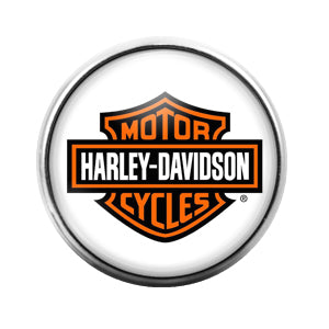 Harley Davidson - 18MM Glass Dome Candy Snap Charm GD0446
