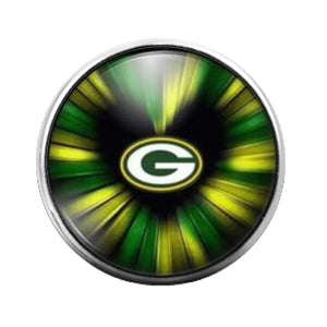 Greenbay Packers- 18MM Glass Dome Candy Snap Charm GD1038