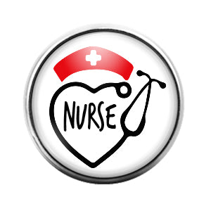 Nurse - 18MM Glass Dome Candy Snap Charm GD0576