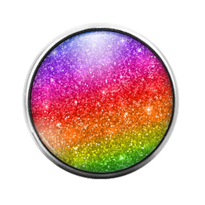 Glitter Pattern - 18MM Glass Dome Candy Snap Charm GD1500