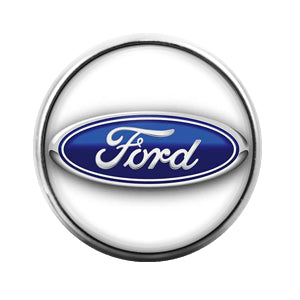 Ford Car Logo - 18MM Glass Dome Candy Snap Charm GD0436
