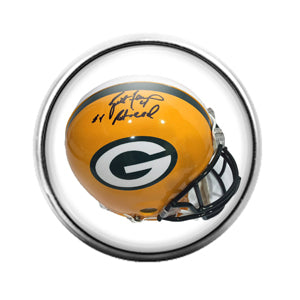 Greenbay Packers- 18MM Glass Dome Candy Snap Charm GD1065
