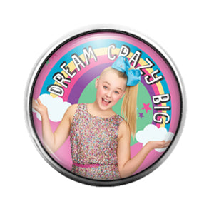 Jojo Siwa- 18MM Glass Dome Candy Snap Charm GD1135
