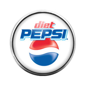 Diet Pepsi - 18MM Glass Dome Candy Snap Charm GD0644