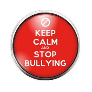 Stop Bullying - 18MM Glass Dome Candy Snap Charm GD0577