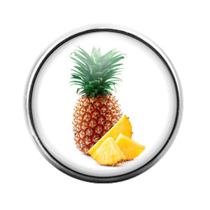 Pineapple Fruit - 18MM Glass Dome Candy Snap Charm GD1300