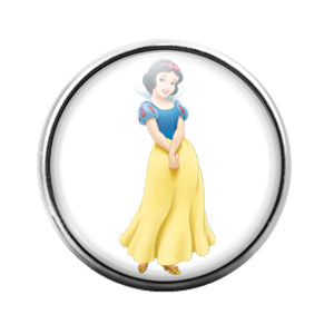 Snow White Princess- 18MM Glass Dome Candy Snap Charm GD1061