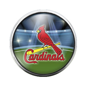 Cardinals - 18MM Glass Dome Candy Snap Charm GD0568