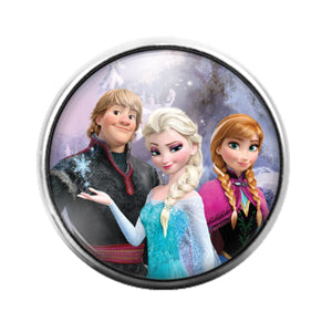 Frozen - 18MM Glass Dome Candy Snap Charm GD1260