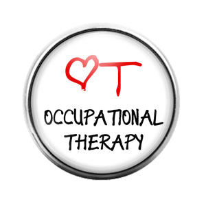 Occupational Therapy - 18MM Glass Dome Candy Snap Charm GD0643
