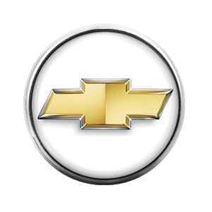 Chevy Car Logo - 18MM Glass Dome Candy Snap Charm GD0437