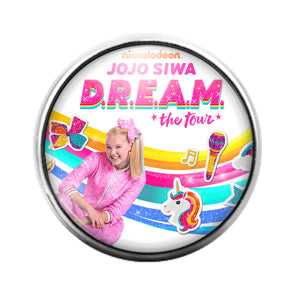 Jojo Siwa- 18MM Glass Dome Candy Snap Charm GD1136