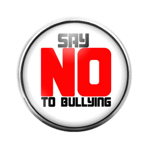 Stop Bullying - 18MM Glass Dome Candy Snap Charm GD0578