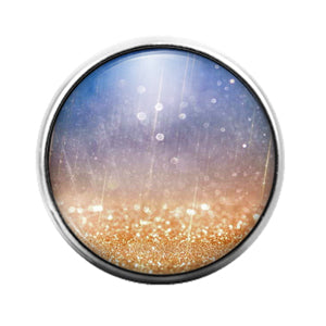 Glitter Pattern - 18MM Glass Dome Candy Snap Charm GD1502