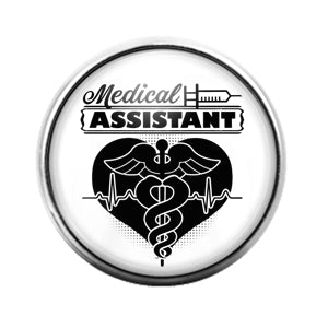 Medical Assistant- 18MM Glass Dome Candy Snap Charm GD1122