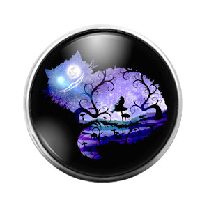 Alice in Wonderland- 18MM Glass Dome Candy Snap Charm GD1003