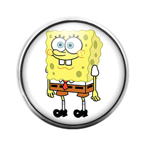 Spongebob Squarepants - 18MM Glass Dome Candy Snap Charm GD0391