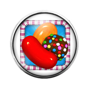 Candy Crush - 18MM Glass Dome Candy Snap Charm GD0852