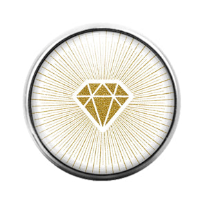 Diamond - 18MM Glass Dome Candy Snap Charm GD1504