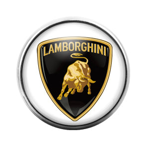 Lamborghini Car Logo - 18MM Glass Dome Candy Snap Charm GD0439