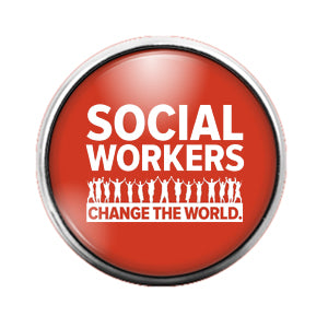 Social Workers - 18MM Glass Dome Candy Snap Charm GD0588