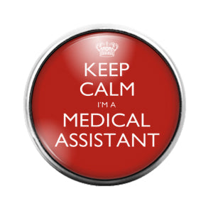 Medical Assistant- 18MM Glass Dome Candy Snap Charm GD1123