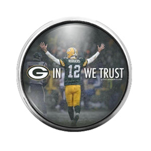 Greenbay Packers- 18MM Glass Dome Candy Snap Charm GD1067