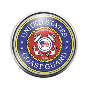 Coast Guard - 18MM Glass Dome Candy Snap Charm GD0612