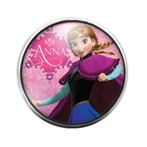 Frozen - 18MM Glass Dome Candy Snap Charm GD1263