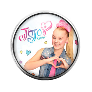 Jojo Siwa- 18MM Glass Dome Candy Snap Charm GD1138