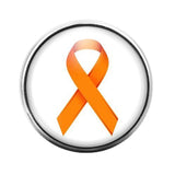 Awareness Ribbon Orange - 18MM Glass Dome Candy Snap Charm GD0620