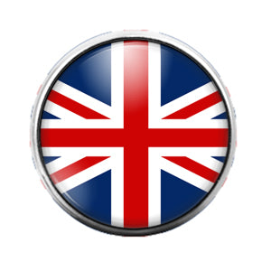 British Flag - 18MM Glass Dome Candy Snap Charm GD0581
