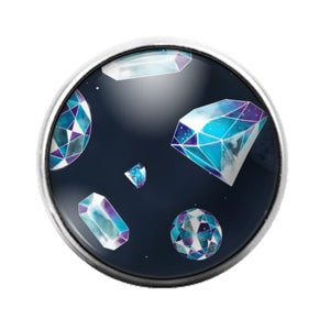 Diamond - 18MM Glass Dome Candy Snap Charm GD1505
