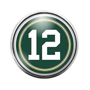 Greenbay Packers- 18MM Glass Dome Candy Snap Charm GD1068
