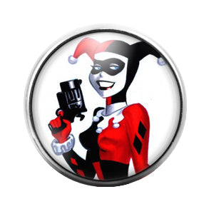 Harley Quinn - 18MM Glass Dome Candy Snap Charm GD1389