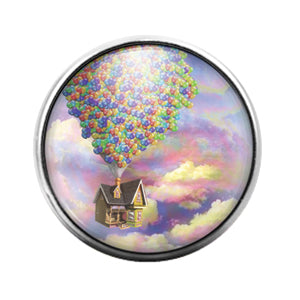 Pixar Up- 18MM Glass Dome Candy Snap Charm GD1014