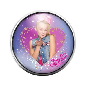 Jojo Siwa- 18MM Glass Dome Candy Snap Charm GD1139