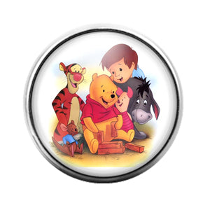 Winnie the Pooh - 18MM Glass Dome Candy Snap Charm GD0725