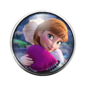 Frozen - 18MM Glass Dome Candy Snap Charm GD1264