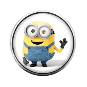 Minion - 18MM Glass Dome Candy Snap Charm GD0616