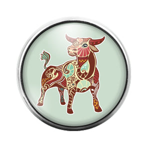 Astrology Signs - 18MM Glass Dome Candy Snap Charm GD0863
