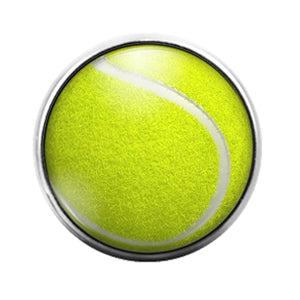 Tennis Ball - 18MM Glass Dome Candy Snap Charm GD0900