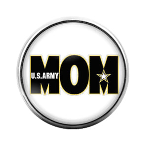 Army Mom - 18MM Glass Dome Candy Snap Charm GD0654