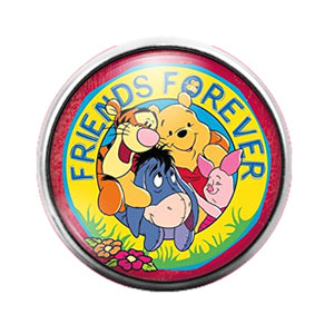 Winnie the Pooh - 18MM Glass Dome Candy Snap Charm GD0726