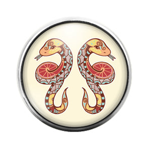 Astrology Signs - 18MM Glass Dome Candy Snap Charm GD0864