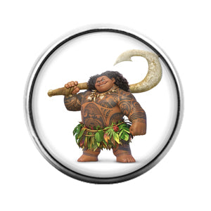 Moana Maui- 18MM Glass Dome Candy Snap Charm GD1189